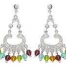 Multi-Color CZ Chandelier Earrings