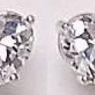 2 CT CZ Heart Shaped Earrings