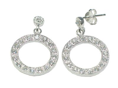 CZ Circle Earrings
