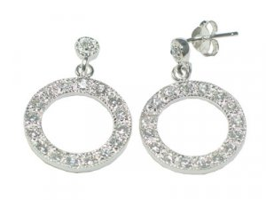 CZ Circle Earrings