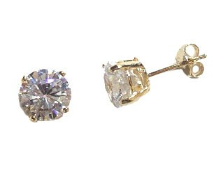 2 Ct CZ Stud Earrings