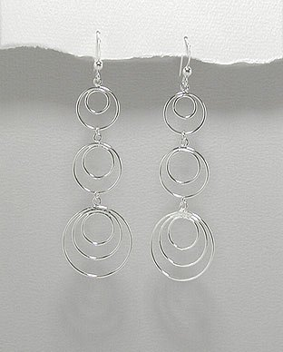 Long Multi-Circle Earrings
