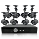 8 Camera Surveillance Kit - 8 Outdoor CCTV Cameras, H264 DVR, 1TB