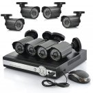 8 Camera DVR Surveillance System - 8 Outdoor CCTV Cameras, H264 DVR