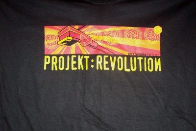 Linkin Park Projekt Revolution T-Shirt Black Size XL