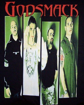 Godsmack T-Shirt Group Photo Black Size Medium