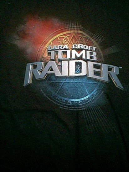 Tomb Raider T-Shirt Lara Croft Logo Black Size XL