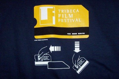 Tribeca Film Festival T-Shirt Navy Blue Size Medium