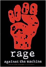 Rage Against The Machine Poster Flag Red Fist Tapestry