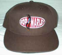 Bob Marley Hat Oval Logo Brown One Size Fits All