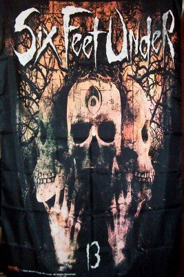 Six Feet Under Poster Flag Skulls Logo Tapestry