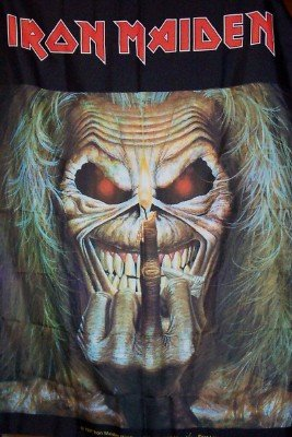 Iron Maiden Poster Flag Up The Irons Tapestry