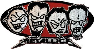 Metallica Iron-On Patch Metal Heads Logo