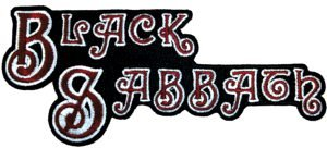 Black Sabbath Iron-On Patch Letters Logo