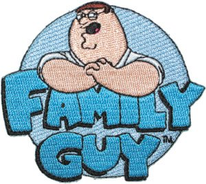 Family Guy Iron-On Patch Cartoon Logo Peter