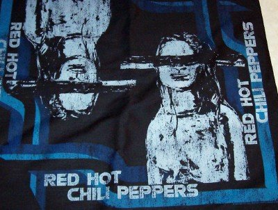 Red Hot Chili Peppers Bandana Black