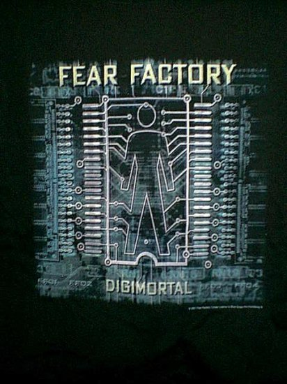 Fear Factory T-Shirt Digimortal Black Size Large