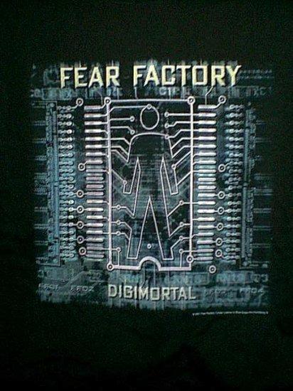 Fear Factory T-Shirt Digimortal Black Size Large