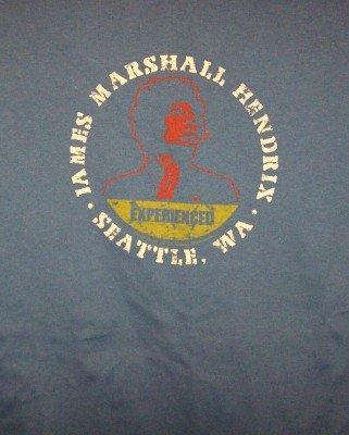 Jimi Hendrix T-Shirt Experienced Blue Size XXL