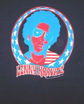 Lenny Kravitz T-Shirt North American Tour Navy Blue Size XL