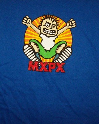 MXPX T-Shirt Jumper Logo Blue Size Large