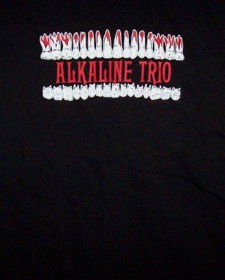 Alkaline Trio T-Shirt Teeth Logo Black Size Large