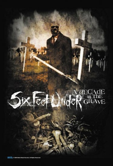 Six Feet Under Poster Flag Decade In The Grave Tapestry