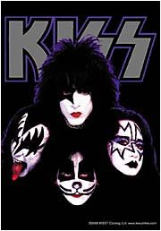 Kiss Poster Flag Four Faces Logo Tapestry