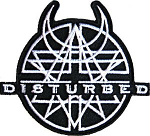 Disturbed Iron-On Patch Black Amulet Logo