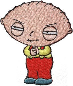 Family Guy Iron-On Patch Stewie