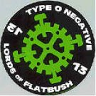Type O Negative Vinyl Sticker Hammer Gear