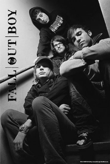 Fall Out Boy Poster Flag Stairway Photo Tapestry