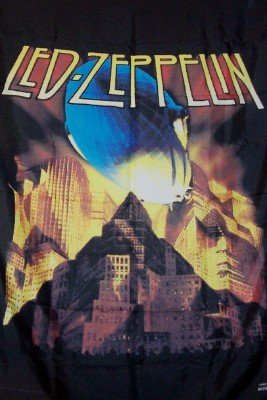 Led Zeppelin Poster Flag Metropolis Blimp Tapestry