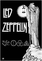 Led Zeppelin Poster Flag Stairway To Heaven Tapestry