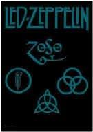 Led Zeppelin Poster Flag Zoso Symbols Tapestry