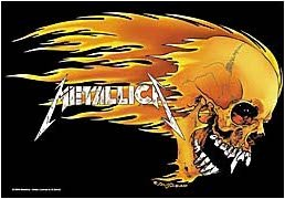 Metallica Poster Flag Flaming Skull Tapestry