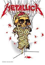 Metallica Poster Flag One Skull Tapestry
