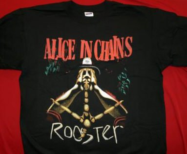 Alice in Chains T-Shirt Rooster Black Size Large