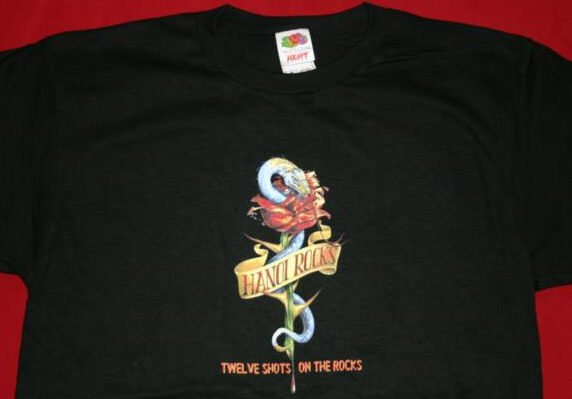 Hanoi Rocks T-Shirt Twelve Shots Black Size Large