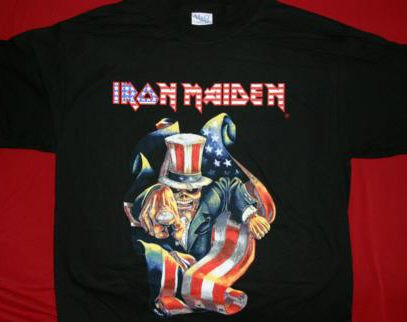 Iron Maiden T-Shirt Patriot Black Size XL