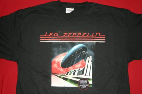 Led Zeppelin T-Shirt Oakland '77 Black Size Small