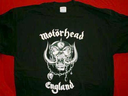 Motorhead T-Shirt England Logo Black Size XXL