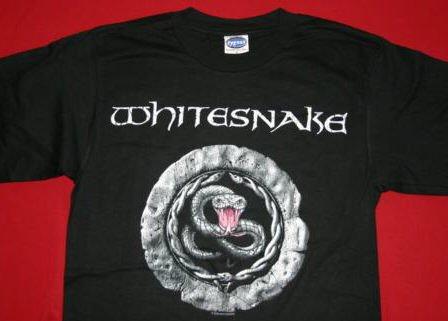 Whitesnake T-Shirt Snake Logo Black Size XL