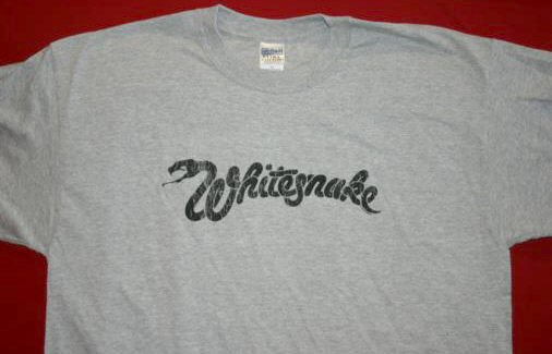 Whitesnake T-Shirt Snake Logo Gray Size XL