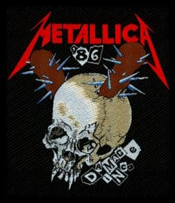Metallica Sew On Patch Damage Inc.