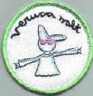 Veruca Salt Iron-On Patch Bunny Logo