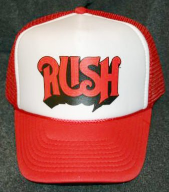 Rush Mesh Trucker Hat Red Logo One Size Fits All
