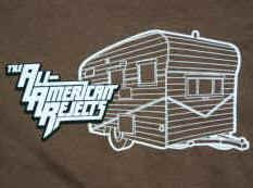 All-American Rejects T-Shirt Camper Brown Size XL