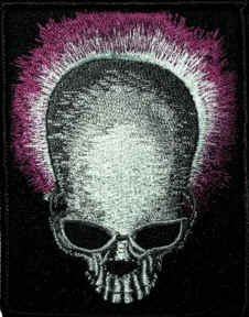 Grateful Dead Iron-On Patch Skull Steal Your Face