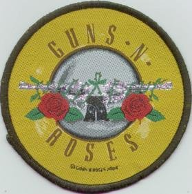 Guns n' Roses Sew On Patch Circle Logo